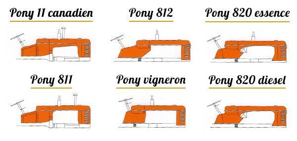 Tracteurs massey harris pony
